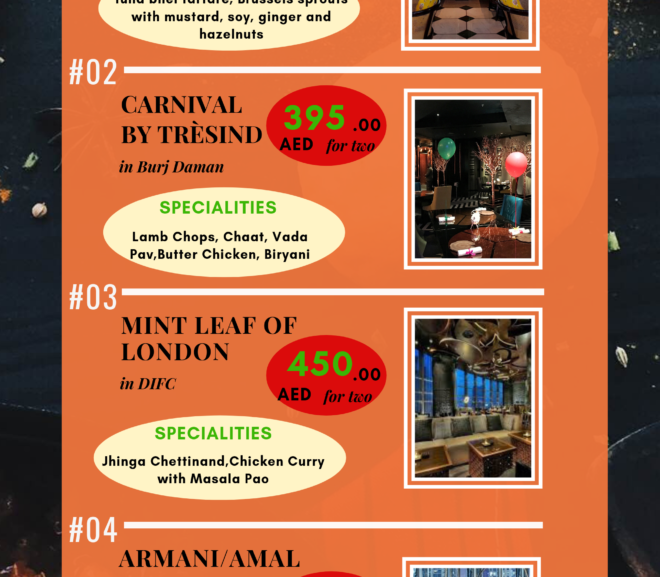 Top 5 Indian Restaurants in Dubai – you should not miss (Infographic)