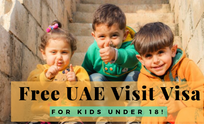 How to apply free UAE visa for under 18's? | A complete guide