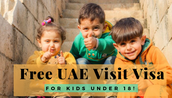 How To Apply Free Uae Visa For Under 18